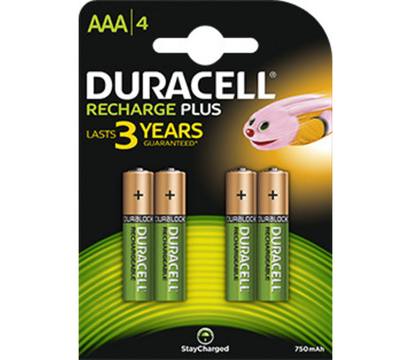 Duracell Accu AAA HR03 900mAh Precharged Blister 4