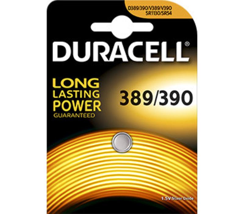 Duracell D389/390 SR1130W Silveroxid 1,55V Blister 1