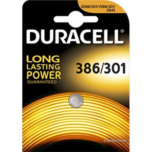 Duracell D386/301 SR43W Silveroxid 1,55V Blister 1