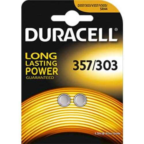 Duracell D357/303 SR44W Silveroxid 1,55V Blister 2