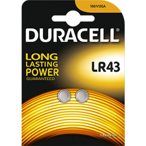 Duracell LR43 D186 Alkaline 1,5V Blister 2