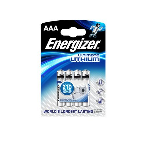 Energizer L92 AAA 1.5V Lithium Blister 4