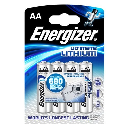 Energizer L91 AA 1.5V Lithium Blister 4