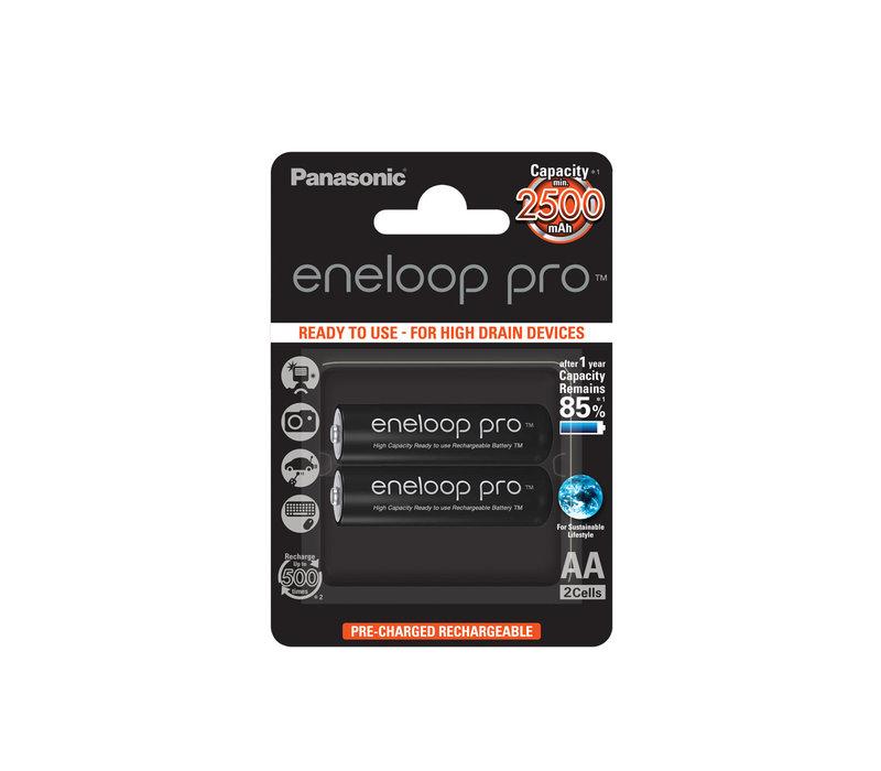 Panasonic Eneloop Pro BK-3HCDE AA 2500mAh Blister 2