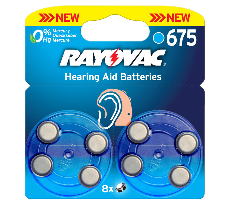 Acoustic Special Rayovac 675 Pack of 8