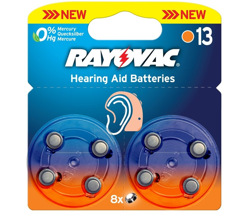 Acoustic Special Rayovac 13 Pack of 8
