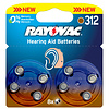 Varta Acoustic Special Rayovac 312 Pack of 8