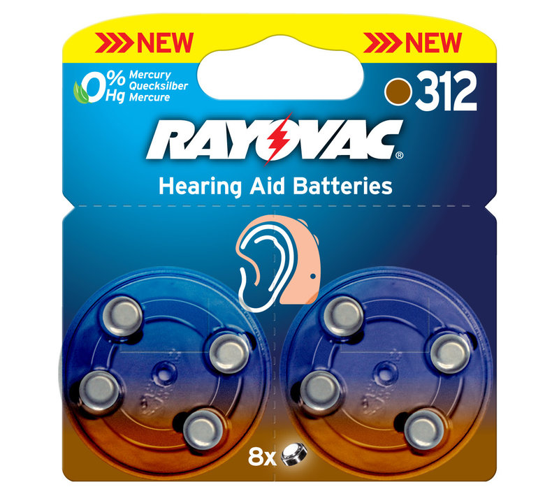 Acoustic Special Rayovac 312 Pack of 8