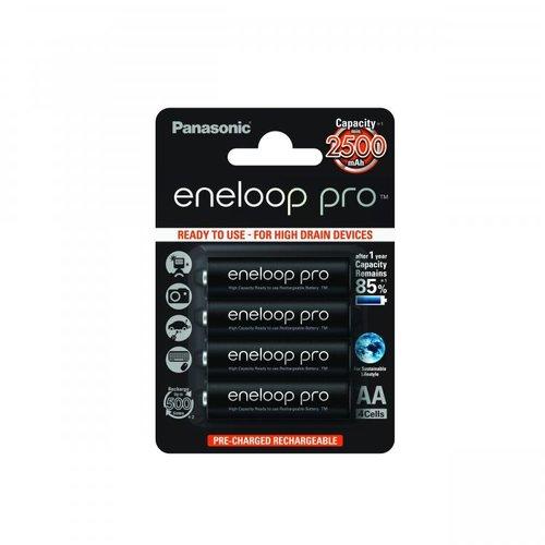 Panasonic Eneloop Pro BK-3HCDE  AA 2500mAh Blister 4
