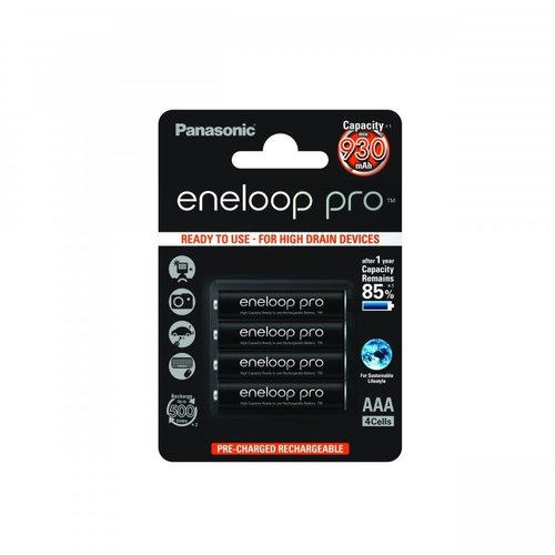 Panasonic Eneloop Pro BK-4HCDE AAA 930mAh Blister 4