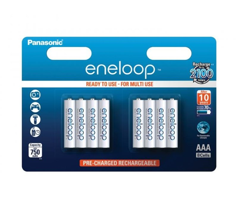 Panasonic Eneloop BK-4MCCE AAA 750mAh Blister 8