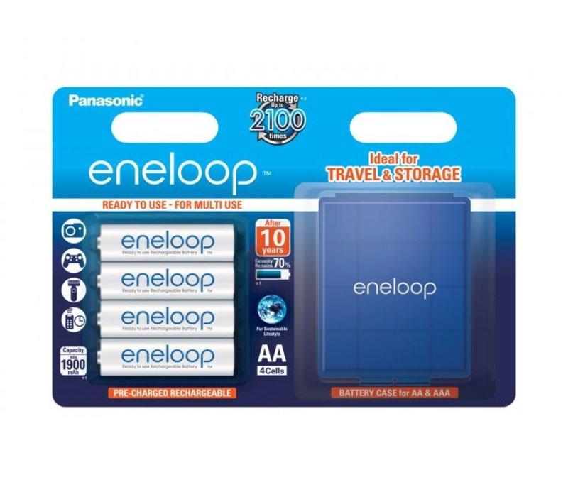 Panasonic Eneloop BK-3MCCEC AA 1900mAh Blister 4 + Case
