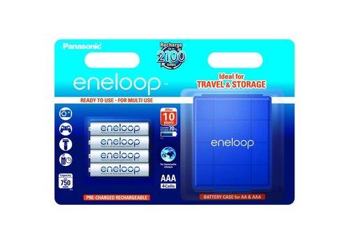 Panasonic Eneloop Panasonic Eneloop BK-4MCCEC AAA 750mAh Blister 4 + Case