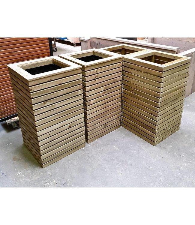 Bloembak Neutraal 50 x 50 x 100 cm