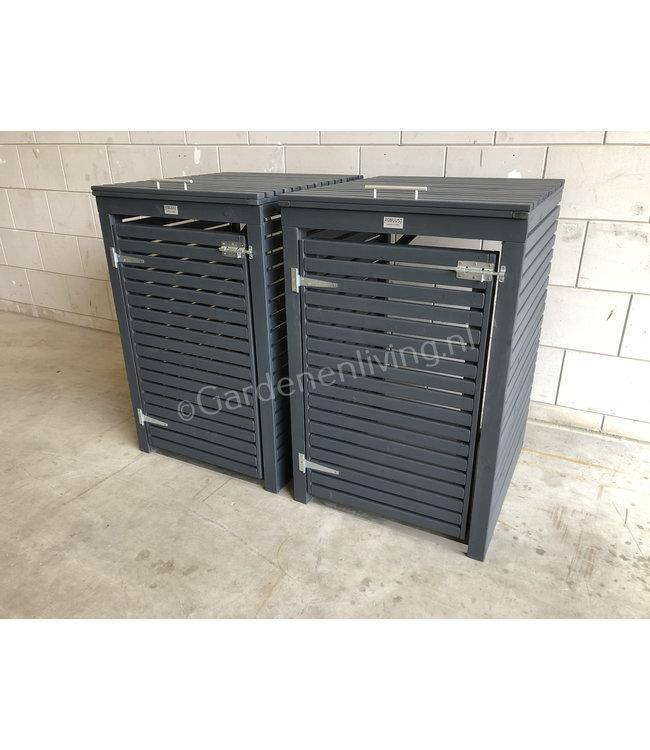 2 x kliko opbergkast voor 1 container RAL 7016