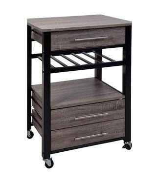 Luxe Keukentrolley - metaal en hout