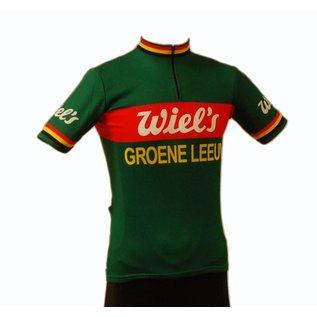 Retroshirt Groene Leeuw short sleeved