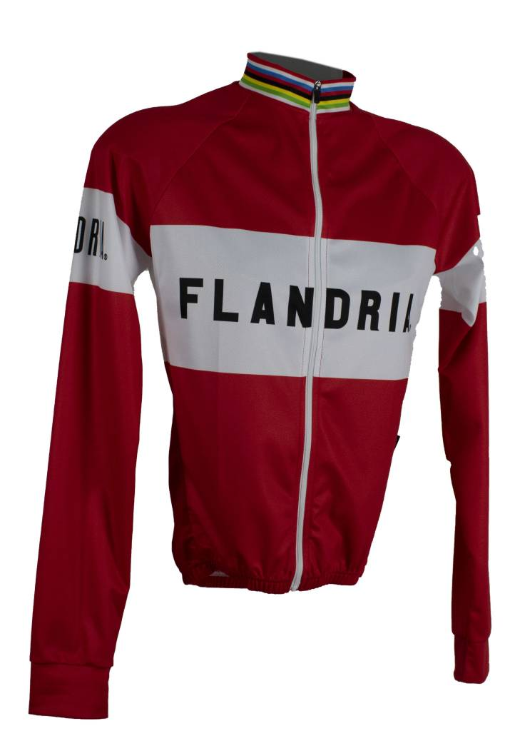 Retroshirt Flandria lange mouwen