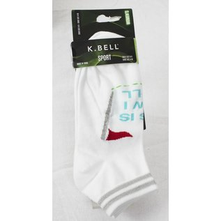 Kousen K.Bell dames wit / groen