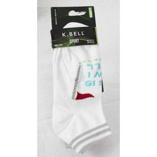 Socks K.Bell women white / green