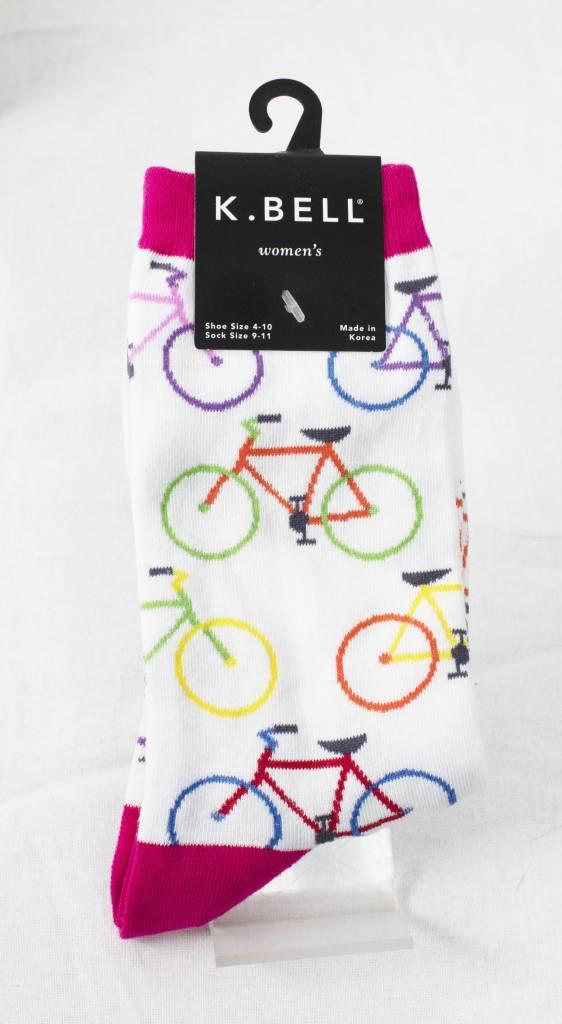 Socks K.Bell women white / pink
