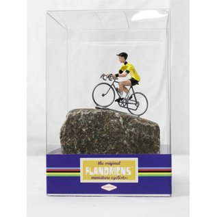 Cyclist on cobblestone