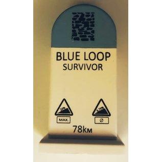 Kilometerpaal Blauwe lus