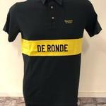 Polo 'De Ronde' black/yellow
