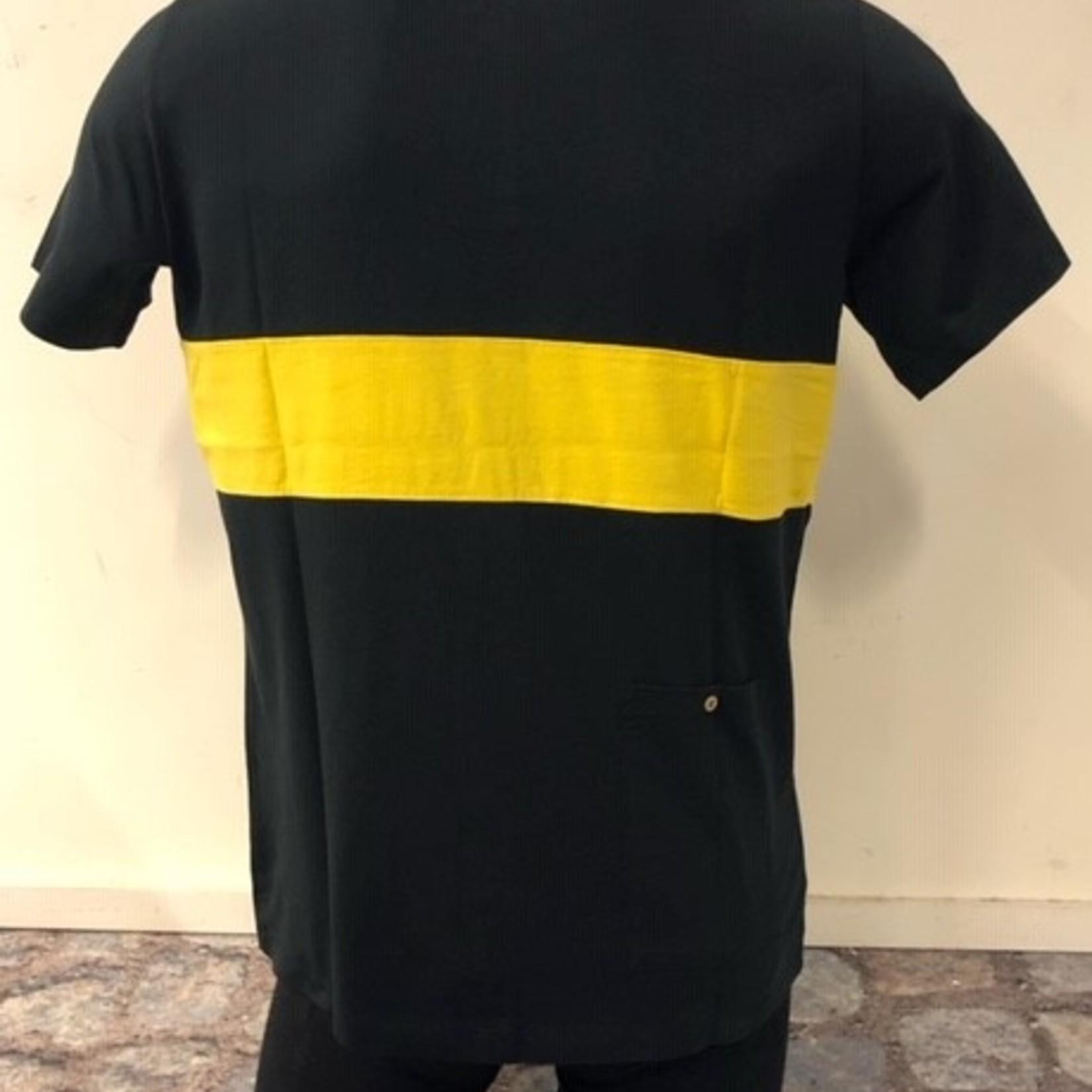 Polo 'De Ronde' zwart/geel