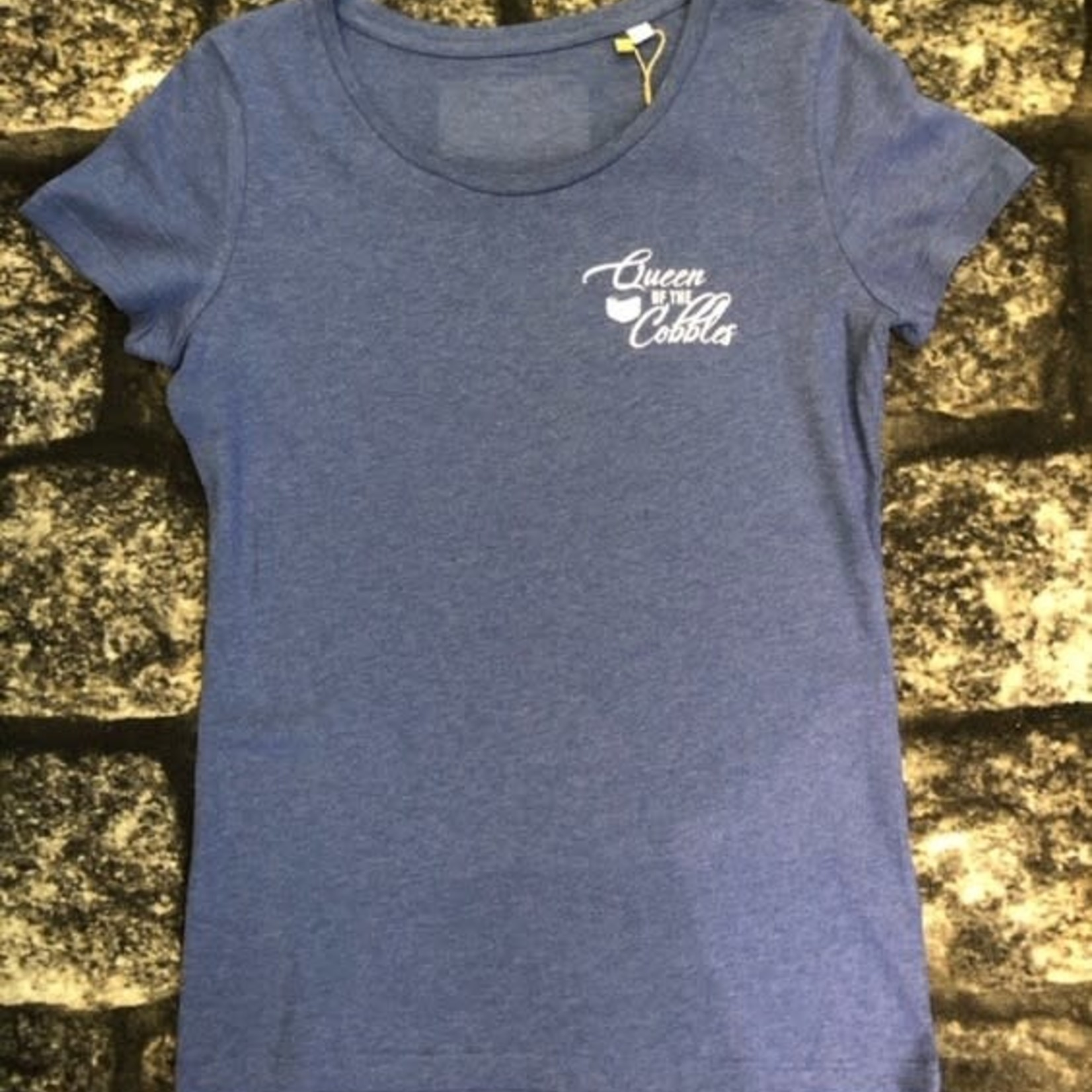 T-shirt 'Queen of the Cobbles' blue