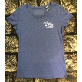 T-shirt 'Queen of the Cobbles' blauw