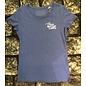 T-shirt 'Queen of the Cobbles' blauw