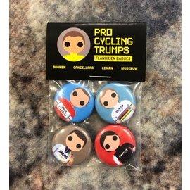 Pro Cycling Trumps Buttons Boonen/Cancellara/Leman/Museeuw