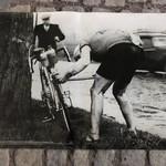 Poster Briek Schotte flat tyre
