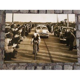 Poster Briek Schotte achtervolging 1950