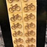 Magneet Fiets/kassei hout