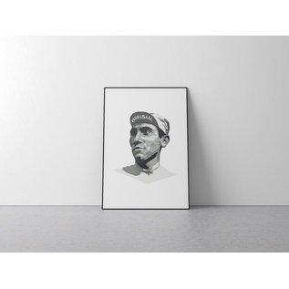 Poster 'Eddy Merckx, Kannibaal'