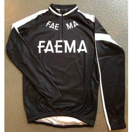 Retroshirt 'Faema' zwart lange mouwen