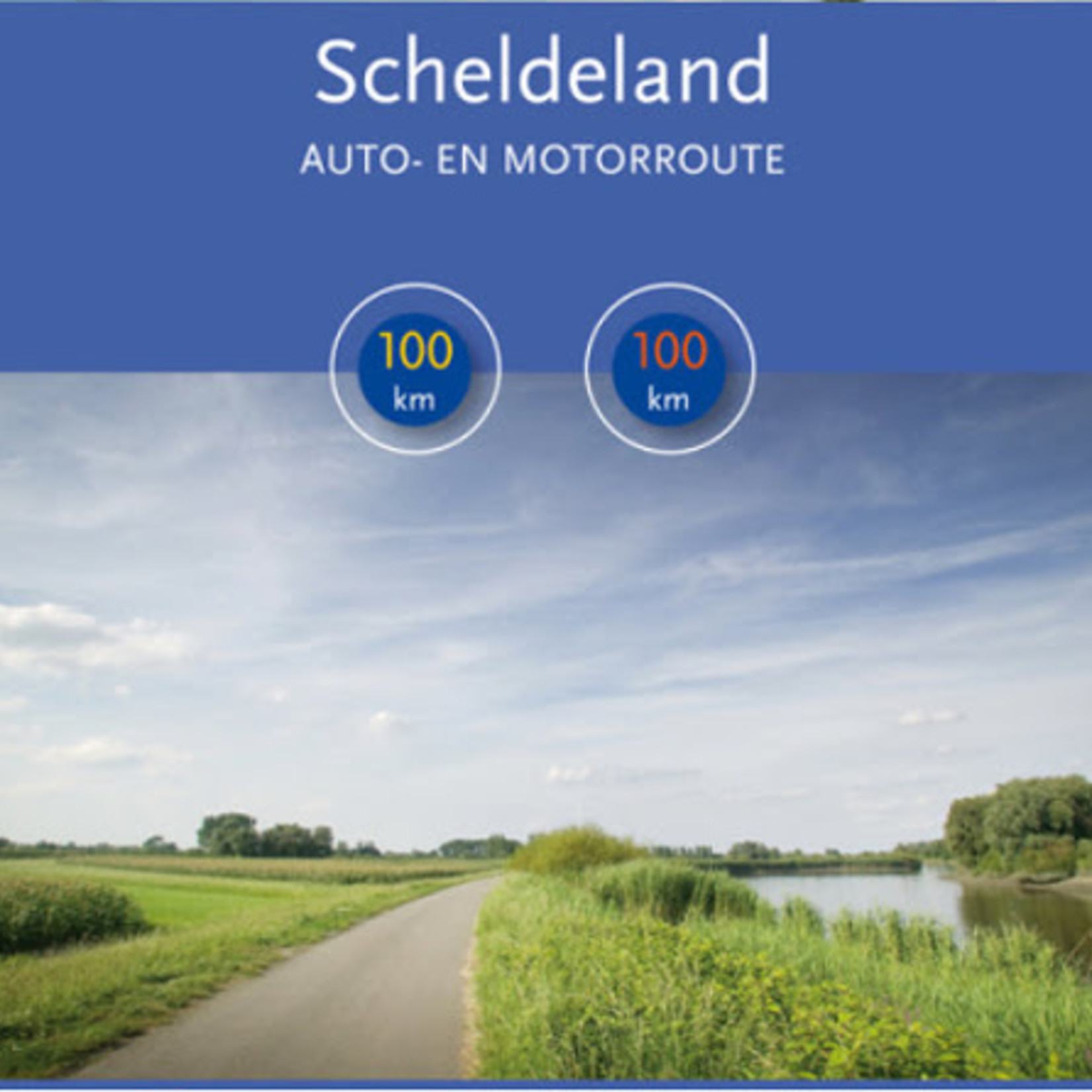 Map (car/motor) 'Scheldeland' (100km)