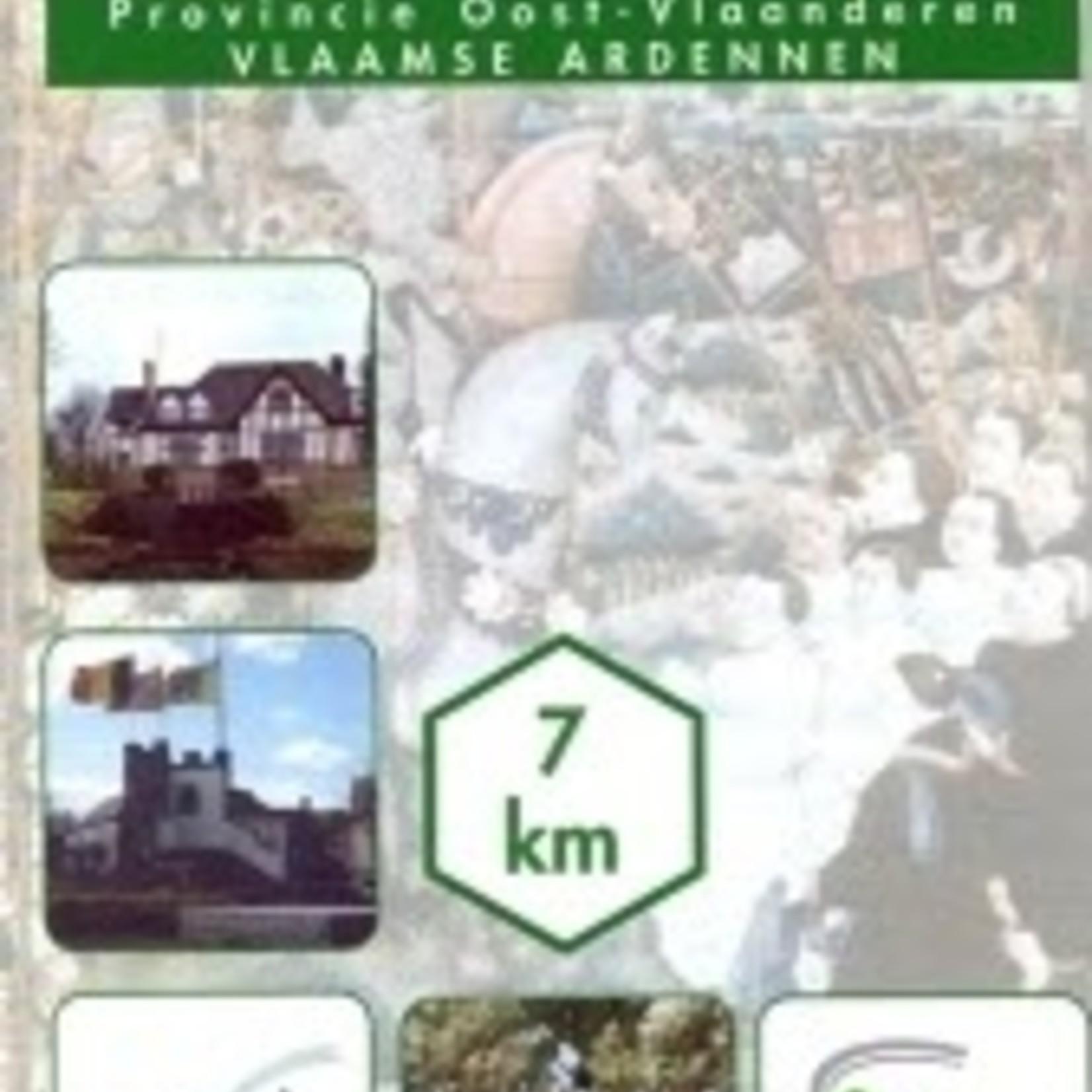 Kaart wandelroute 'Slag bij Gavere'