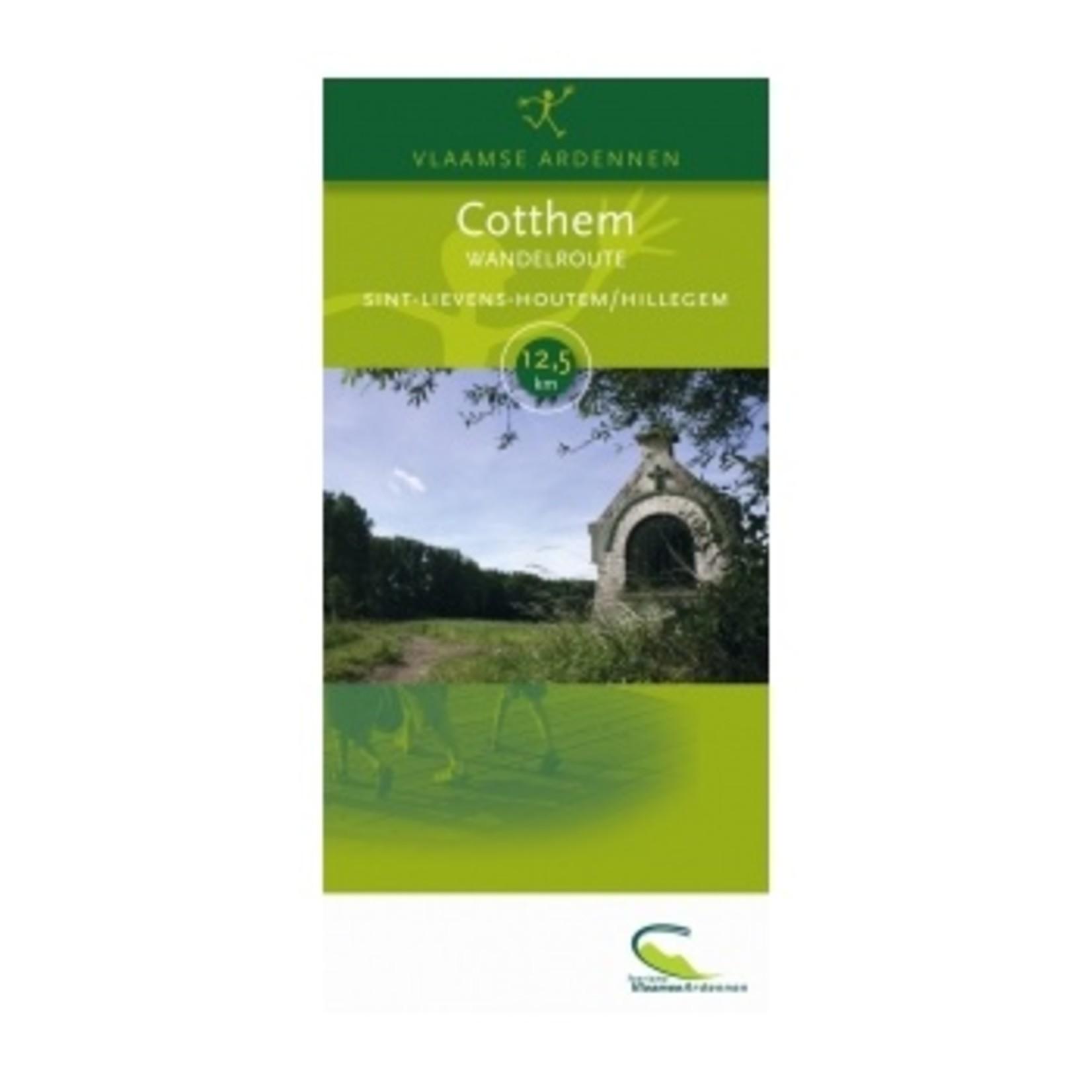 Kaart wandelroute 'Cotthem' (Sint Lievens Houtem) ->12.5 km