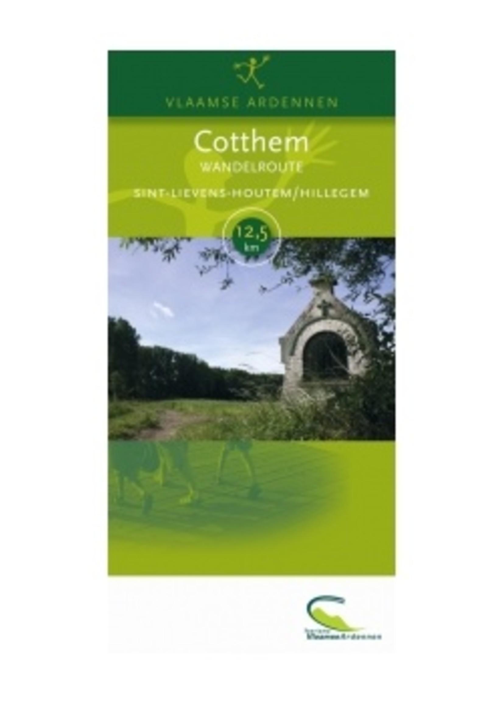 Map (walk) 'Cotthem' (Sint Lievens Houtem) -> 12,5km