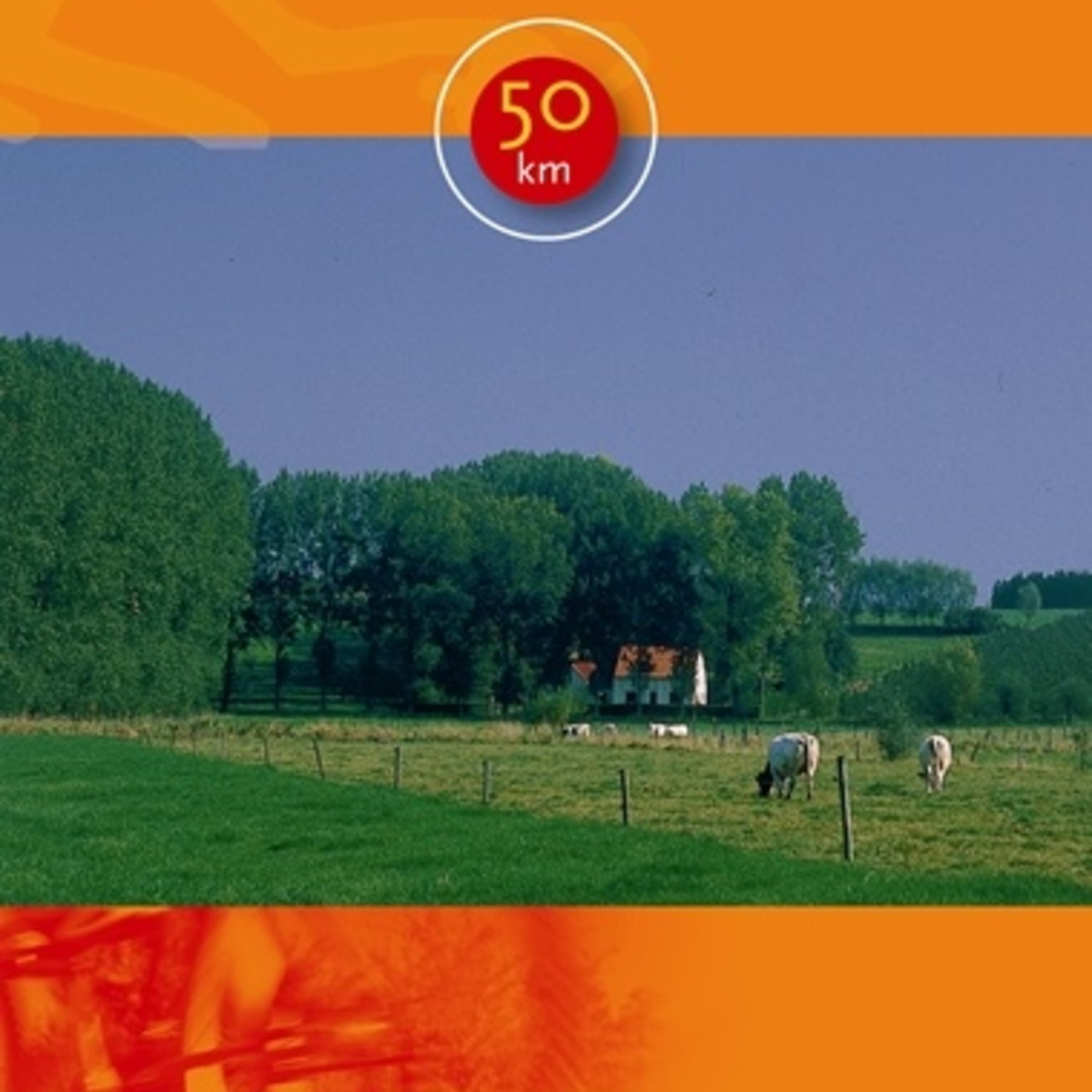 Kaart fietsroute 'Milieu' (Scheldeland/Vlaamse Ardennen/Leiestreek)-> 50km