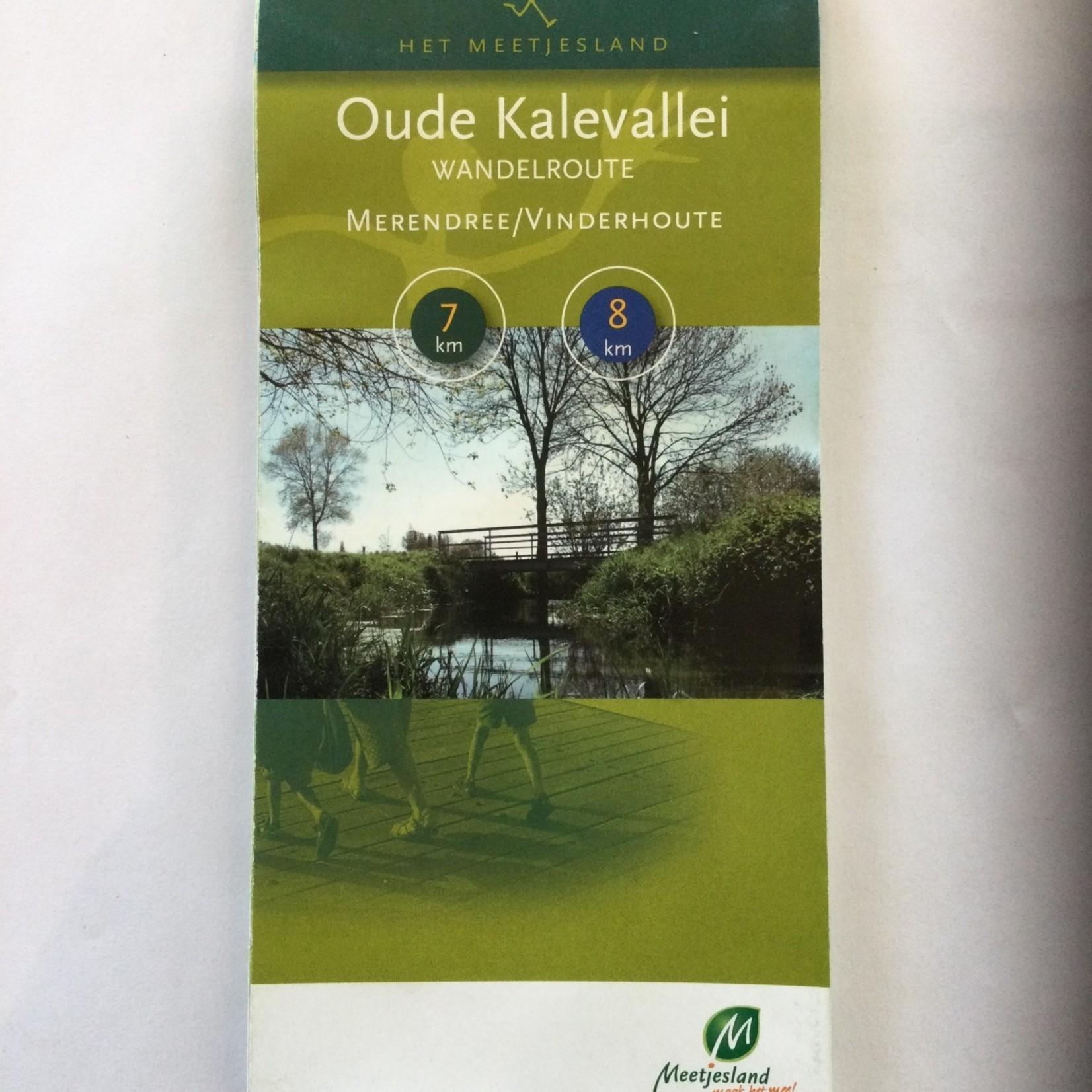 Kaart wandelroute 'Oude Kalevallei'