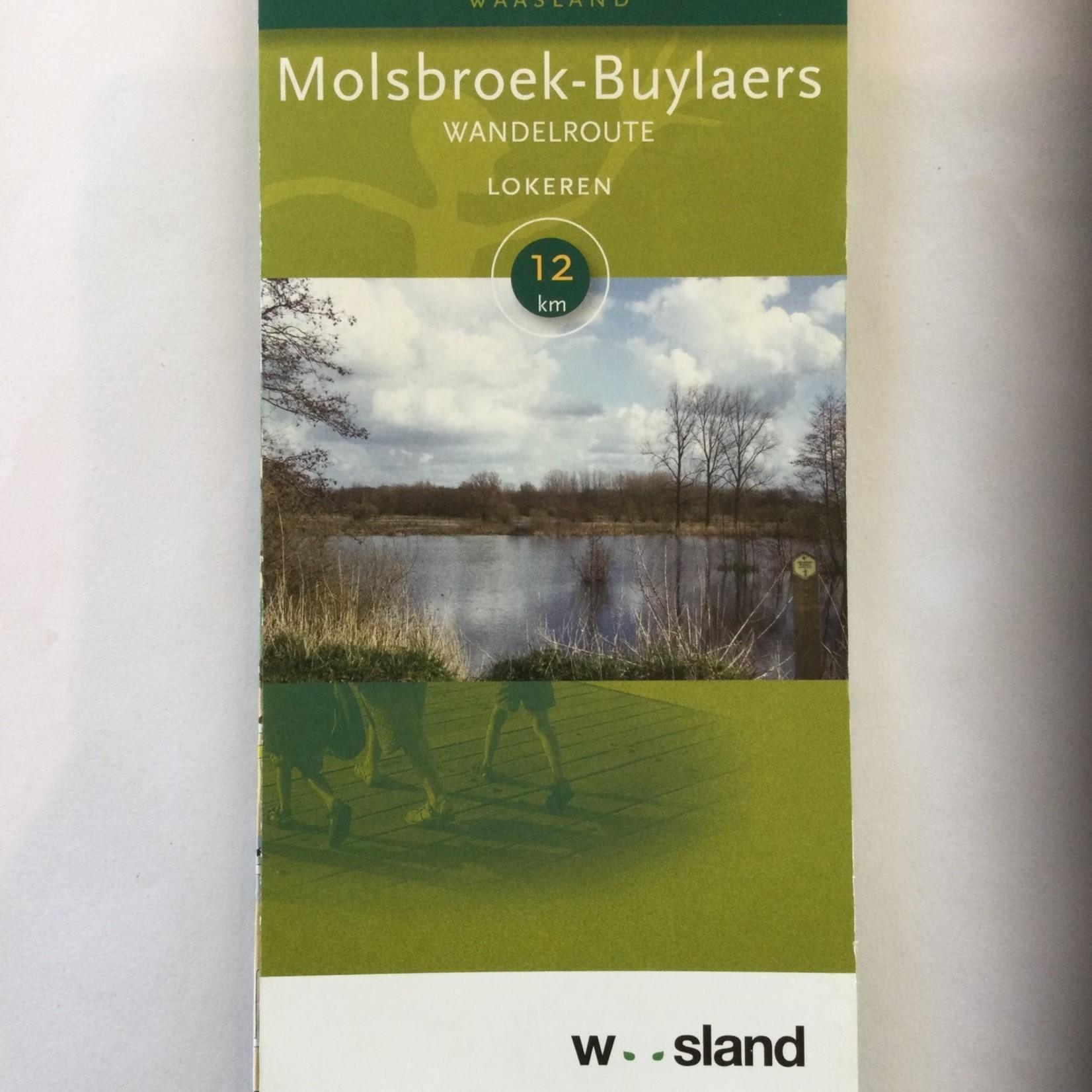 Kaart met wandelroute in 'Molsbroek-Buylaers' (Lokeren)