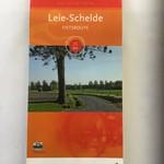 Kaart fietsroute 'Leie-Schelde' (35km)