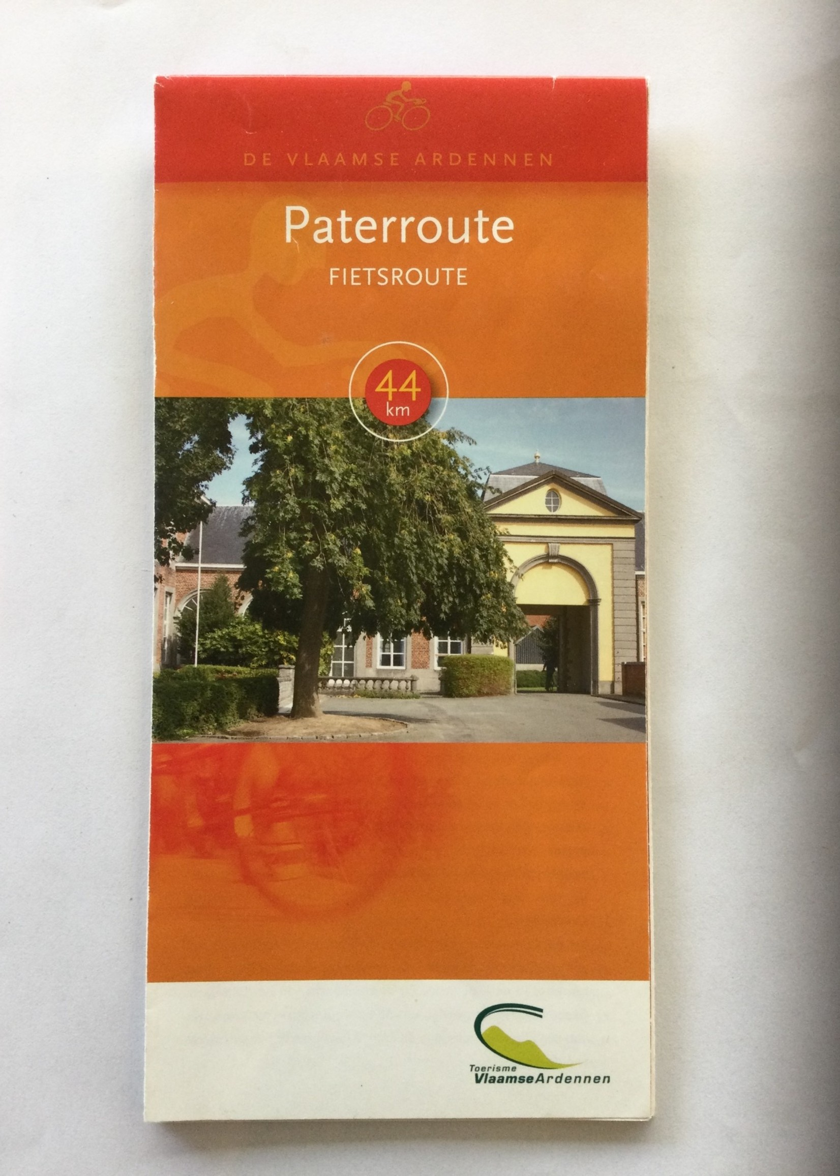 Kaart fietsroute 'Pater' (Vlaamse Ardennen) -> 44km