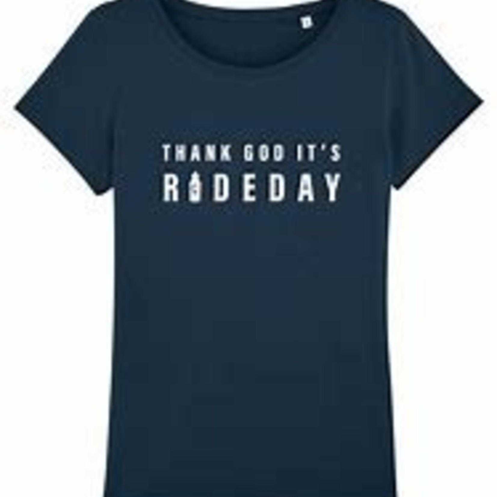 T-shirt 'Thank God it's rideday' female