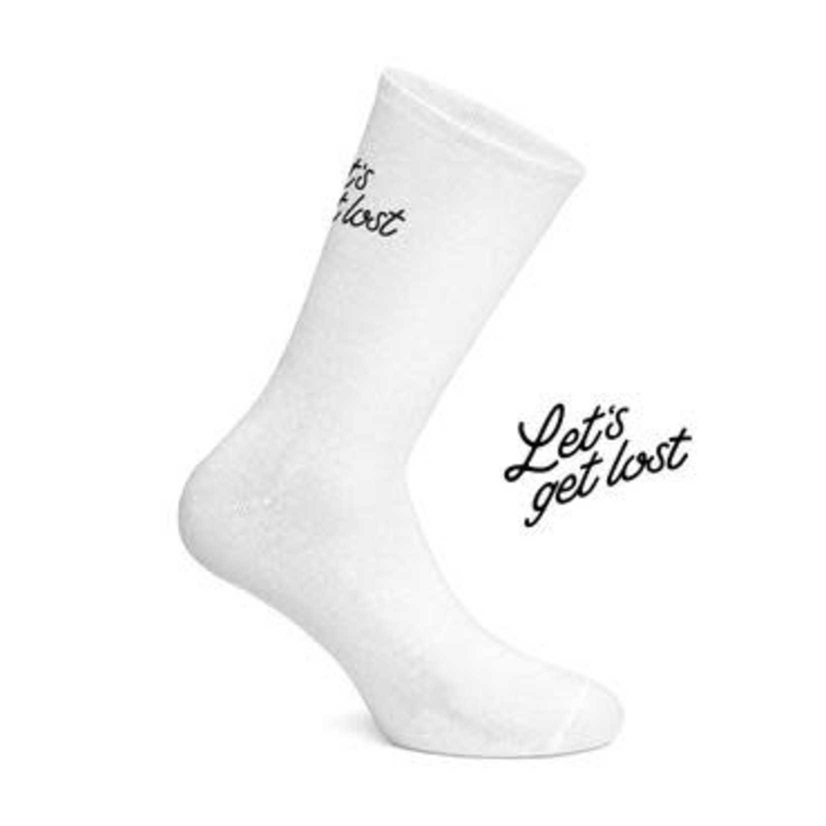 Socks- 'Let's Get Lost' white