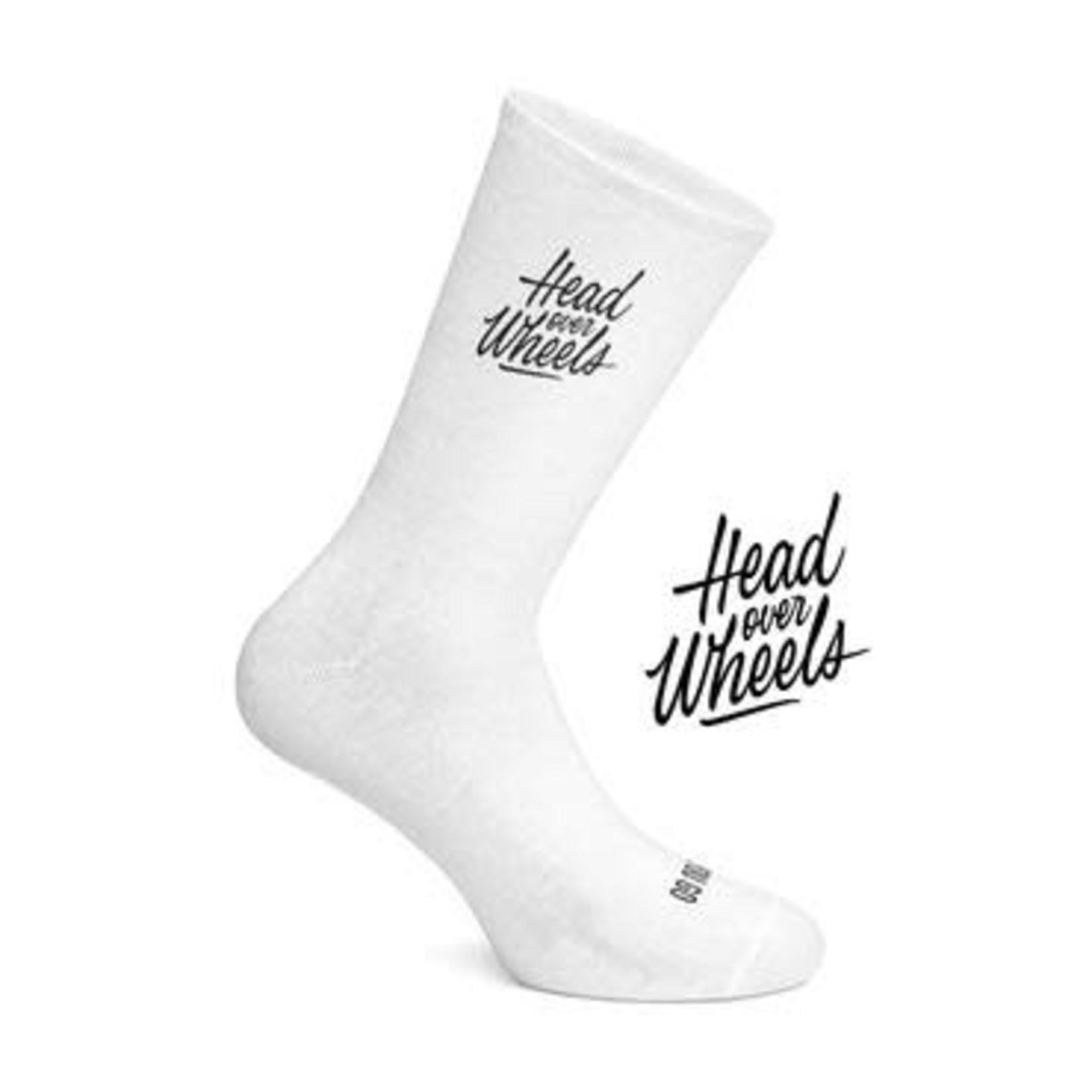 Socks-'Head Over Wheels' white